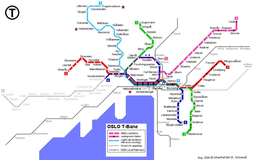 Oslo mapa metra