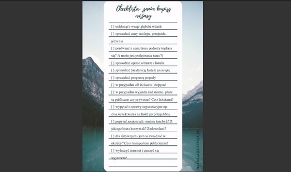 Jak wybrać dobrą ofertę z biura podróży darmowa checklista
