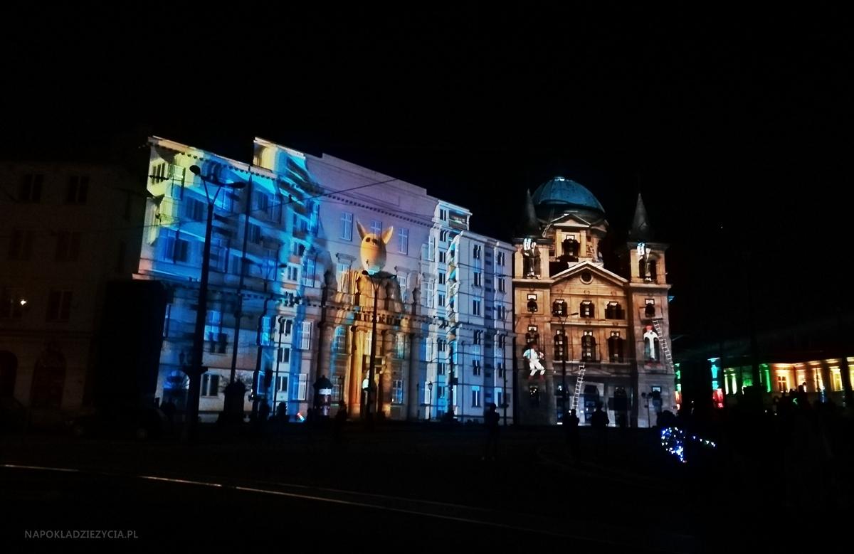 Light Move Festival w Łodzi 2018: plac Wolności