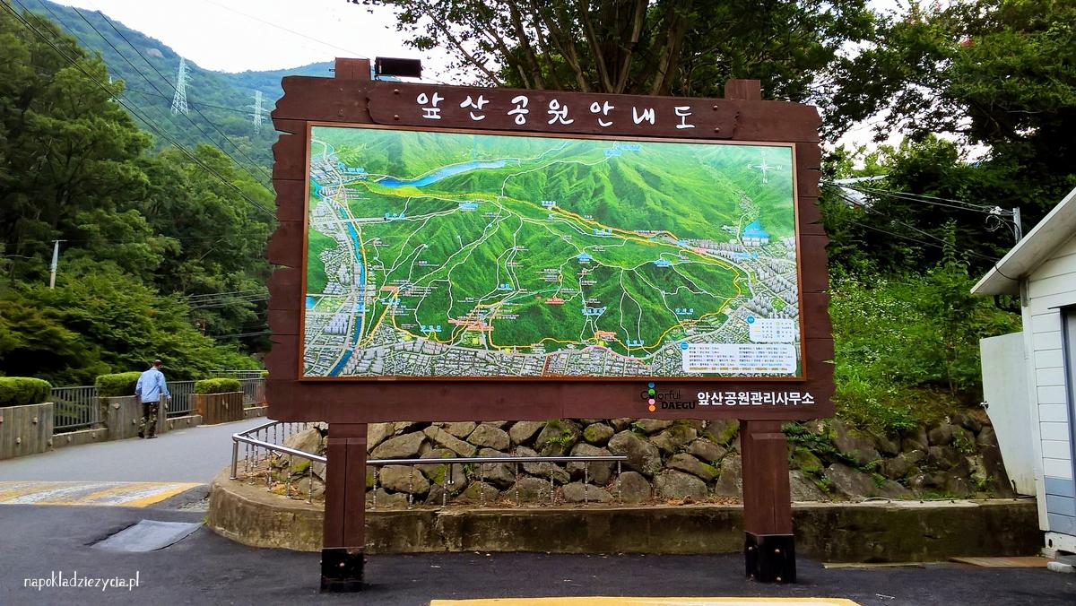 Trekking w Daegu (Korea Południowa): Daegu Apsan Park (Apsan Mountain)