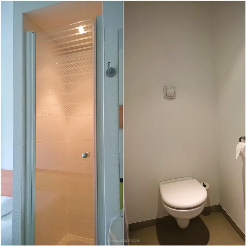 Wrocław na weekend: toaleta i prysznic w hotelu Ibis Budget Wrocław Południe