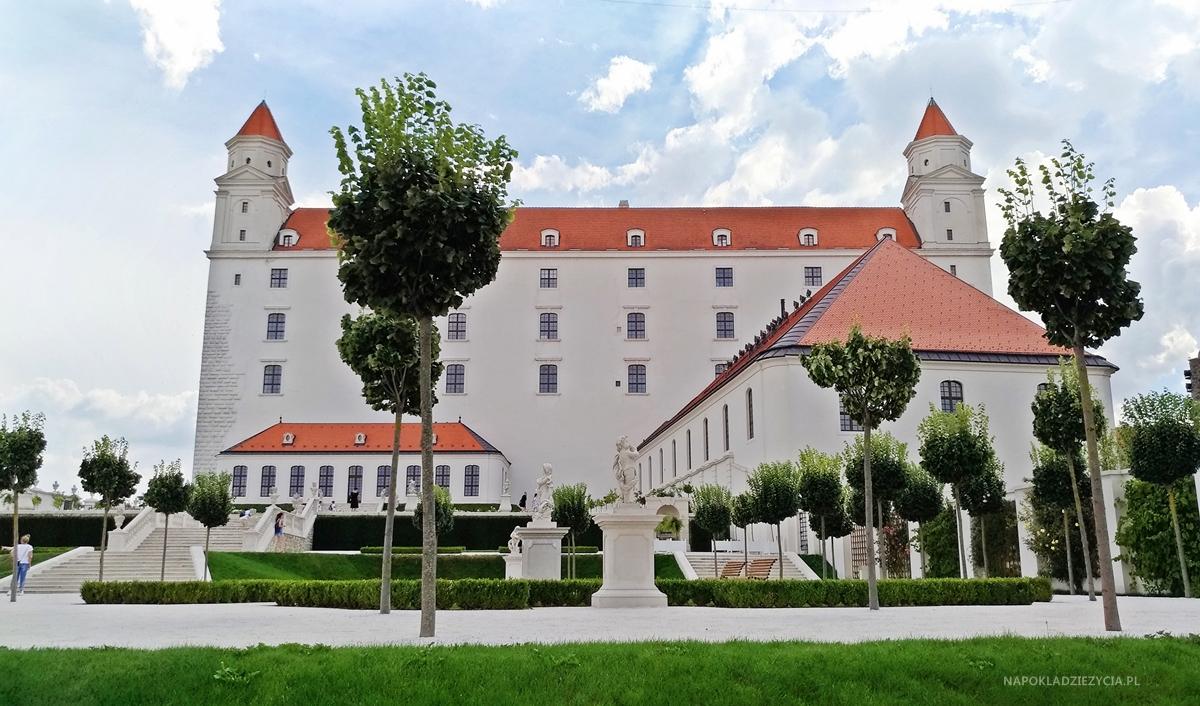 Zamek w Bratysławie (Słowacja), ogród