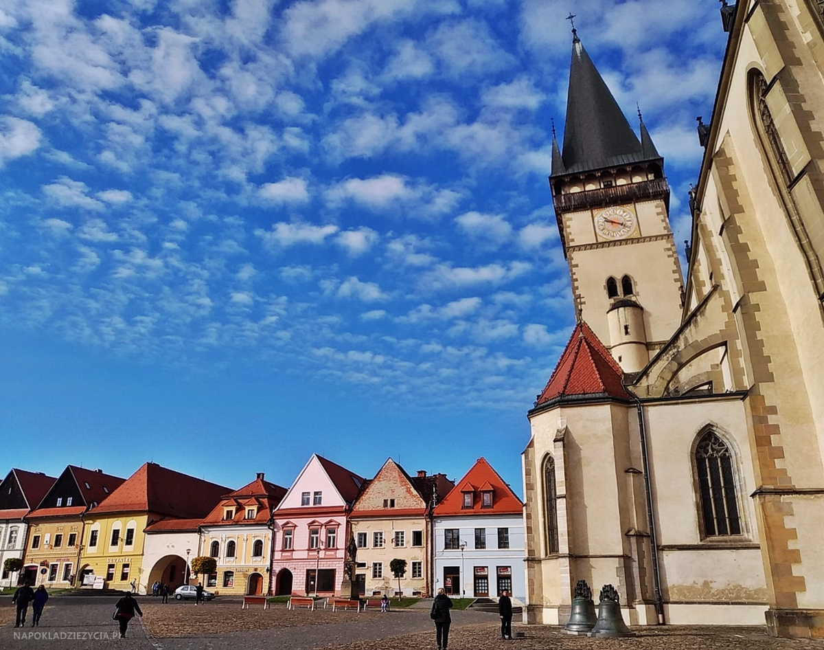 Bardejów, Słowacja: atrakcje, rynek i kościół św. Idziego