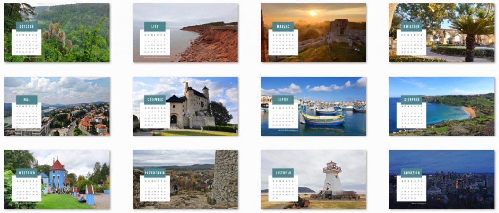 Darmowy kalendarz podróżniczy na 2020 (tapety na pulpit)