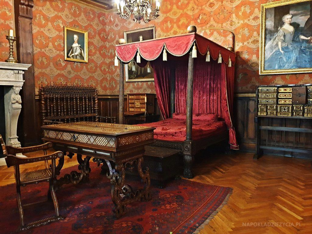 Zamek w Gołuchowie: sypialnia księżnej Małgorzaty