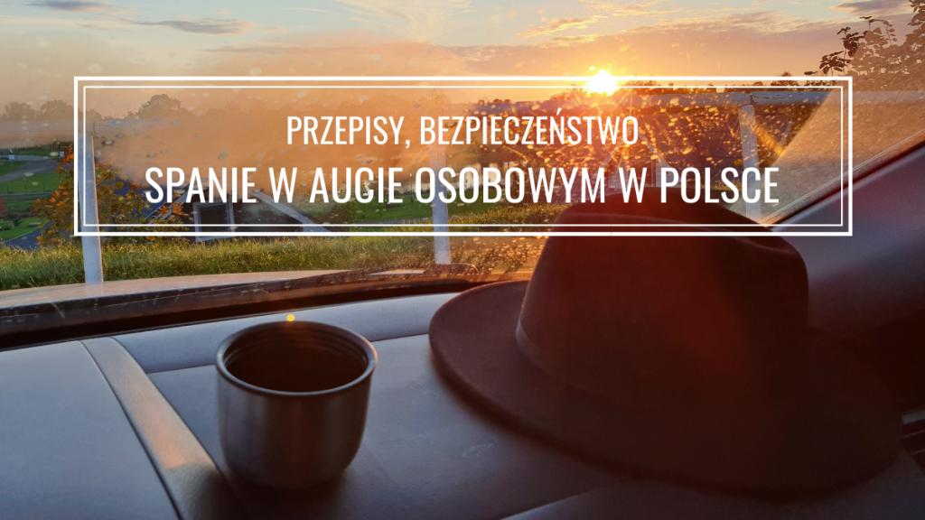 Spanie w aucie osobowym w Polsce: przepisy i bezpieczeństwo